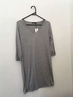 Grey Boohoo dress