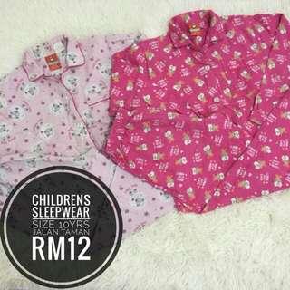 Set Sleepwear 10yrs RM10