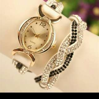 Women's Numerals Rhinestone Quartz Watch