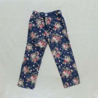 Floral Jeans for girls 5 years old