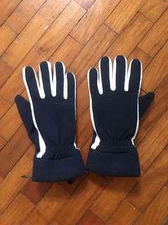 H&M Winter Gloves Size 7 Dark Blue