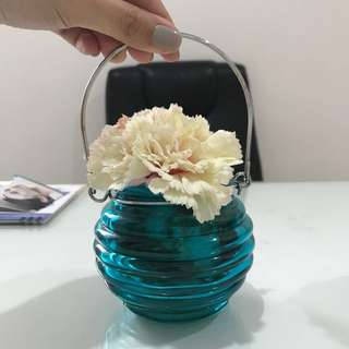 Jar and flower