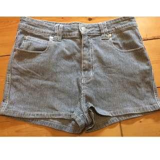 Minkpink Denim Striped Shorts Size 10