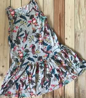 H&M bird print dress