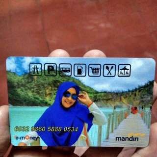 kartu e-money atau flazz custom