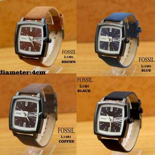 New...!!! 👏👏👏 #1491 #Fossil Watch Kualitas Semi Premium   Diameter:4cm  Free Box Polos  Warna: ~Brown ~Blue ~Coffee ~Black.