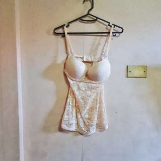 Champage Lace Bustier