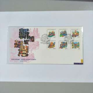 Singapore FDC SIN-HK joint issue
