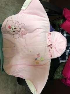 麗嬰房斗篷...厚棉