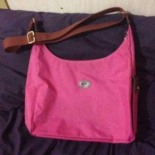 Authentic Longchamp Crossbody Bag in Hot Pink
