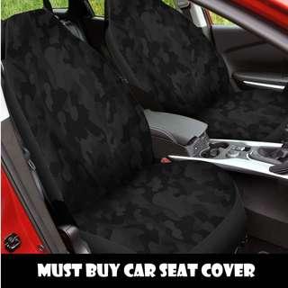 Dark Camo Car Seat Cover