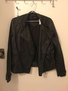 Leather Jacket / size 10