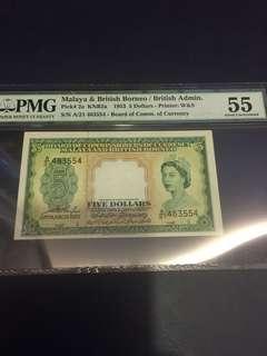 1953 5 dollar QE