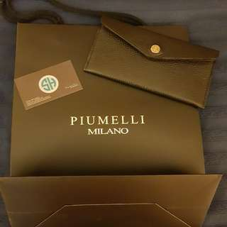 BN Piumelli Black Envelope wallet from Milan