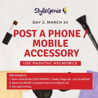 DAY 2: POST A PHONE/ ELECTRONIC MOBILE ACCESSORY