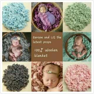 Wool Filler Baby PhotoProps Alas Foto Bayi