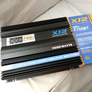 X12 3600watts 4 Channel Car Power Amplifier (MRV-F705BT)
