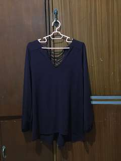 Repriced: Burgundy Blouse (low back with straps at the back)