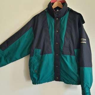🔥防風 防潑水 外套 夾克 撞色( 深藍/綠 )休閒 百搭 稀有 老品 古著 復古 vintag