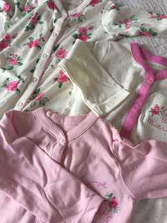 Sleepsuits 3 pcs
