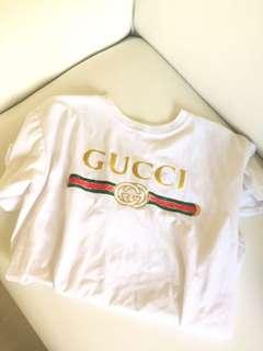 Thrift apparel gucci gang shirt