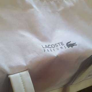 Original LACOSTE travel bag (White)