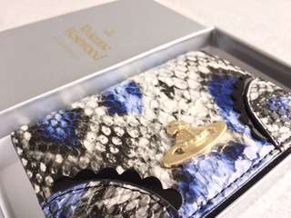 Vivienne Westwood Exotic Python Mini Purse with Card Holder