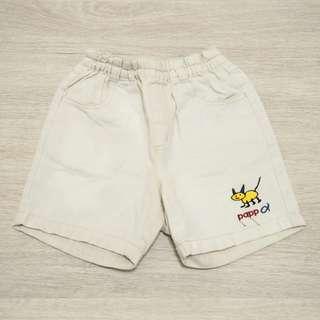 全新童裝/ PAPP白色短褲