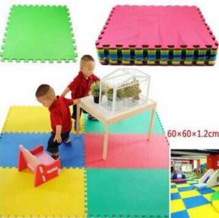 8pcs Big Plain Rubber Puzzle Mat