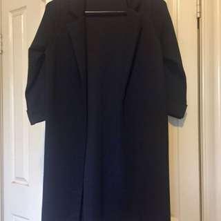 Black duster coat