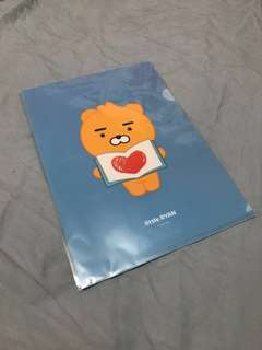 KAKAO FRIENDS A4 file folder Ryan/ Neo/ Apeach : 3 for SGD8