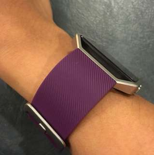 Fitbit blaze authentic strap [metal frame not included] (purple)
