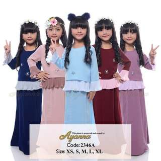 READY STOCK XS - XL Kids Beads Baju Kurung raya sedondon 2018 fashion girls 2346