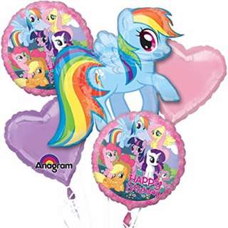 My little pony balloon bouquet.