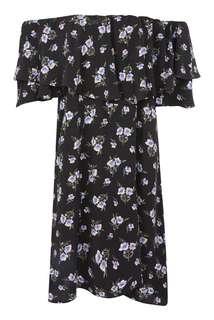 Topshop lilac berry black Bardot dress 12