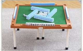 Super cute mini mahjong set with foldable table