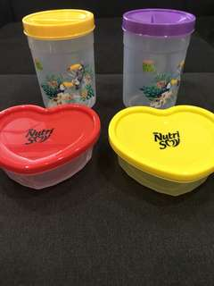 Peel fresh and nutri soy containers