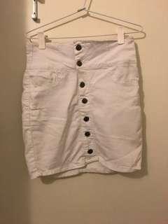 Factorie High Waisted Buttoned Skirt