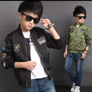 Jackets for Boys Coat Bomber Jacket Army Green Boy's Windbreaker Winter Jacket Kids Children Jacket