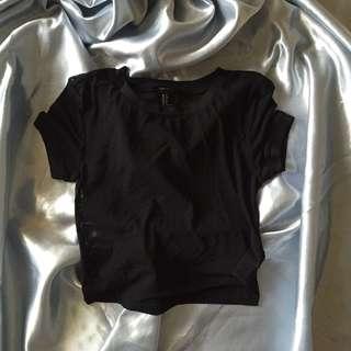 forever 21 mesh top (black)