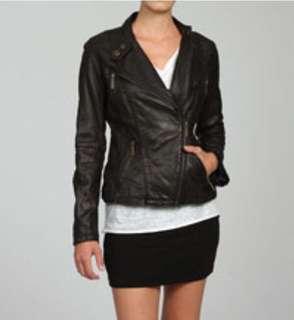 Michael Kors 100% leather biker jacket