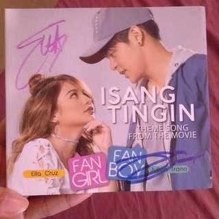 Julian Trono and Ella Cruz Isang Tingin signed album
