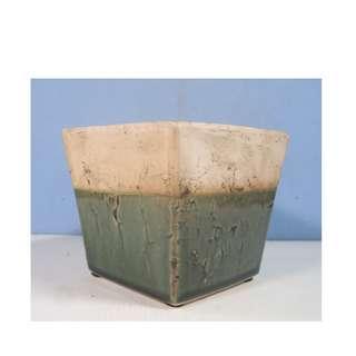 Lingnan ceramic flower bonsai pot hand crafted OOAK glaze new
