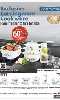 (ALL Taken) NTUC Bonus Points - Exclusive Corningware Cookware