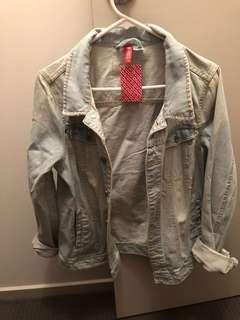 H&M dividend denim jacket BNWT