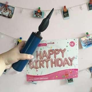 "Happy Birthday Foil Balloons 16"""