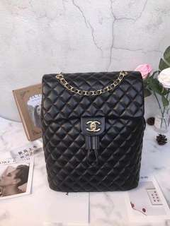 Chanel Quilted Leather Bagpack