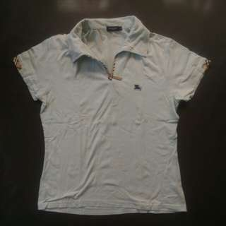 Burberry lightblue polo