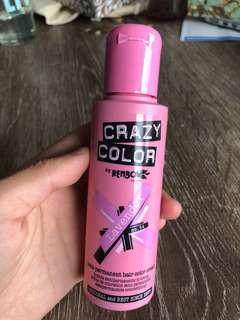 Crazy color semi permanent hair color cream lavender dye