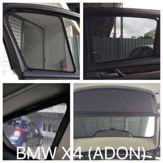 ADON Shades - Custom Fit Magnetic Car Sunshades (Made In Taiwan) for BMW 1/2/3/5/X1/X3/X4/X5.